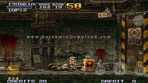 بازی سرباز کوچولو (برای اندروید) - Metal Slug 2 v.1.0 Android