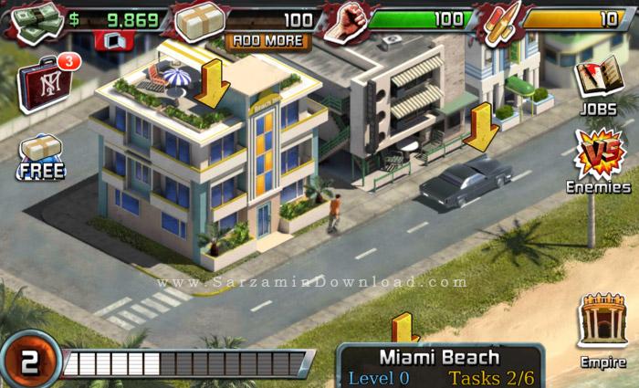 بازی صورت زخمی (برای اندروید) - Scarface 2.1 Android