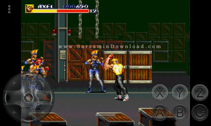 بازی شورش در شهر (برای اندروید) - Streets Of Rage 3 Android