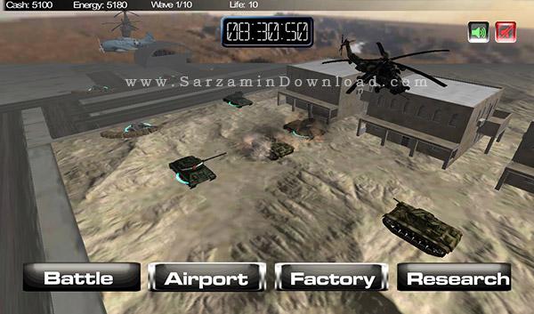 بازی طوفان صحرا (برای اندروید) - Battleship Desert Storm 3 Android
