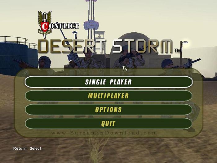 بازی طوفان صحرا (برای کامپیوتر) - Conflict Desert Storm PC Game