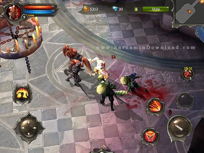 بازی عبور از سیاهچال (برای اندروید) - Dungeon Hunter 4 v1.9 Android