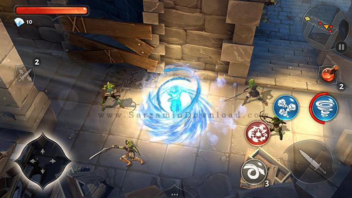 بازی عبور از سیاهچال (برای اندروید) - Dungeon Hunter 5 v.1.7 Android