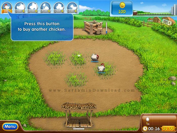 بازی عشق مزرعه داری (برای کامپیوتر) - Farm Frenzy 2 PC Game