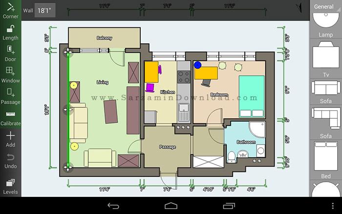 نرم افزار نقشه کشی (برای اندروید) - Floor Plan Creator 2.7.6 Android