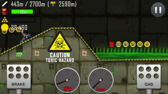 بازی مسابقات صعود به تپه (برای اندروید) - Hill Climb Racing 1.28 Android