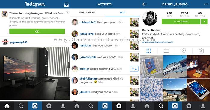 نرم افزار اینستاگرام (برای اندروید) - Instagram 7.18 Android