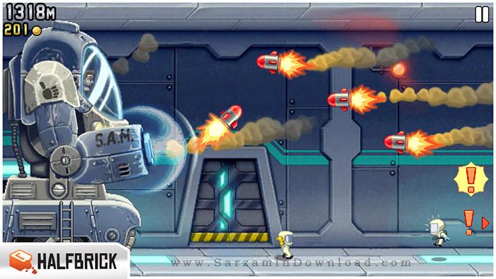 بازی جت پک (برای اندروید) - Jetpack Joyride 1.9.1 Android