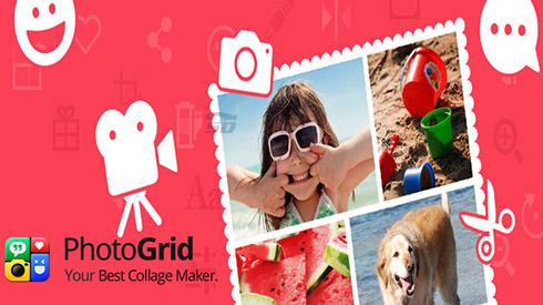 نرم افزار ویرایش تصاویر (برای اندروید) - Photo Grid 5.161 Android