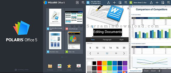 نرم افزار آفیس (برای اندروید) - Polaris Office 7.2.2 Android