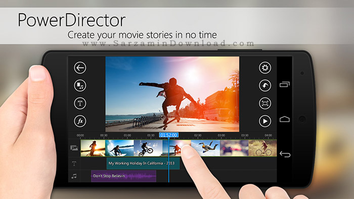 نرم افزار ویرایش فیلم (برای اندروید) - PowerDirector 3.7.1 Android