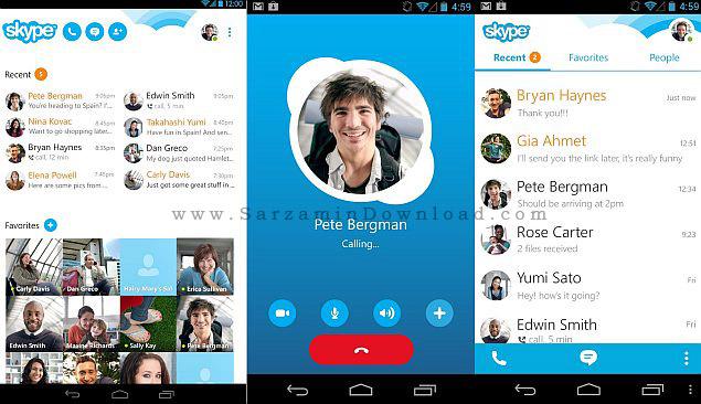 نرم افزار اسکایپ (برای اندروید) - Skype 6.23 Android