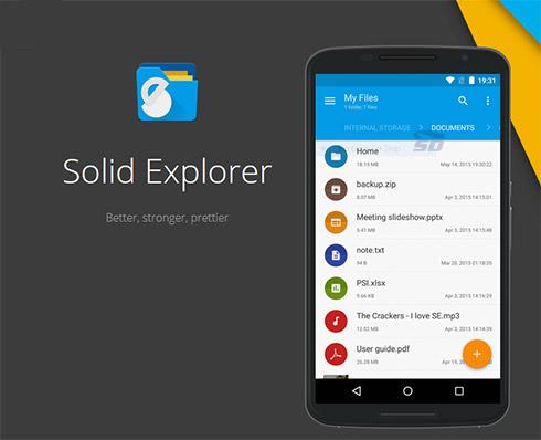 نرم افزار مدیریت فایل (برای اندروید) - Solid Explorer 2.1.12 Android