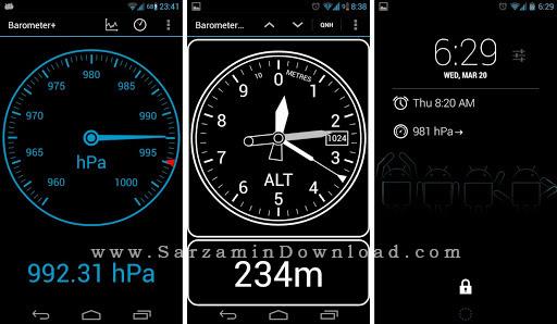 نرم افزار رطوبت سنج (برای اندروید) - Barometer Altimeter DashClock 2.8 Android