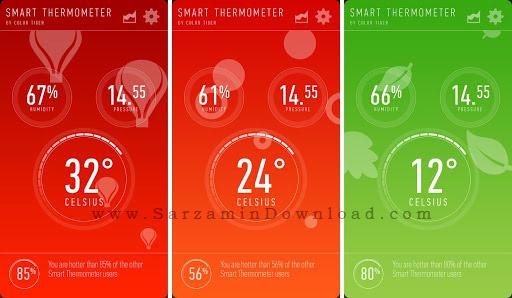 نرم افزار دماسنج (برای اندروید) - Thermometer 2.0 Android