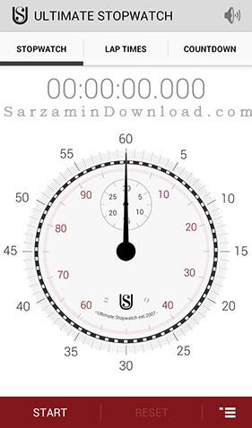 نرم افزار ثانیه شمار (برای اندروید) - Ultimate Stopwatch and Timer 6.0.5 Android