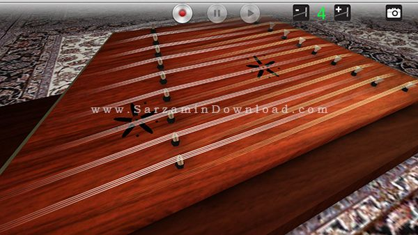 نرم افزار سنتور (برای اندروید) - 3D Santoor 1.1.4 Android
