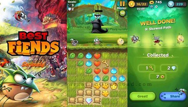 بازی پازل بهترین شیطان ها (برای اندروید) - Best Fiends 3.0.1 Android