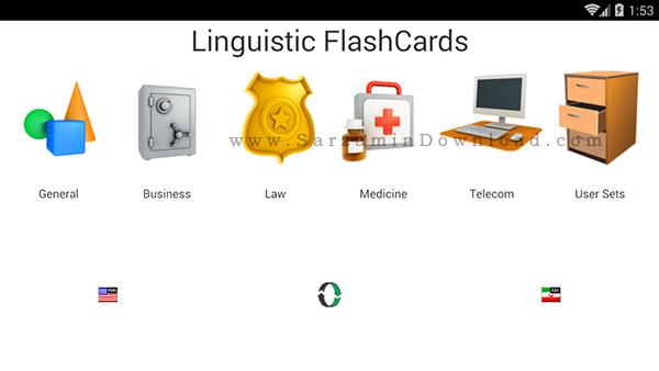 نرم افزار جعبه لایتنر (برای اندروید) - English-Farsi FlashCards 2.48 Android