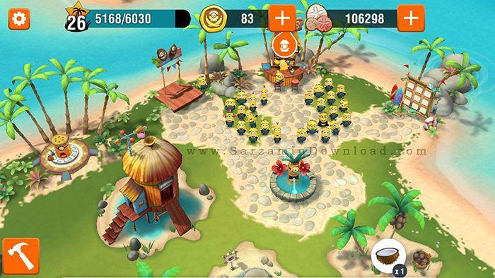 بازی بهشت مینیون ها (برای اندروید) - Minions Paradise 7.0.2851 Android