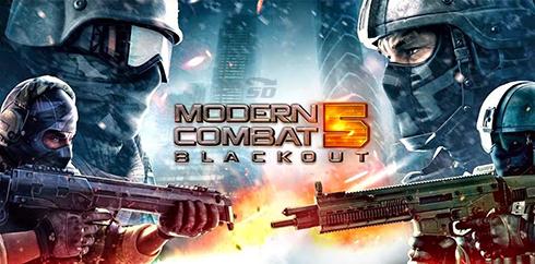 بازی مدرن کمبت 5 (برای اندروید) - Modern Combat 5 Blackout 1.7.0 Android