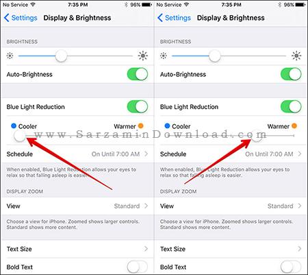 معرفی Night Shift در آپدیت جدید iOS