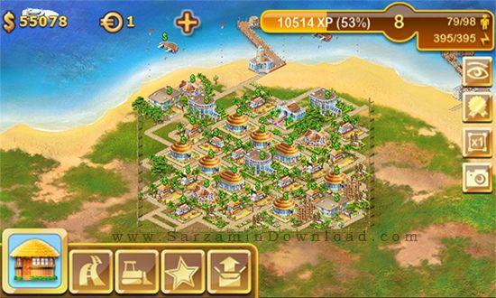 بازی شهرسازی (برای اندروید) - Paradise Island 3.3.7 Android