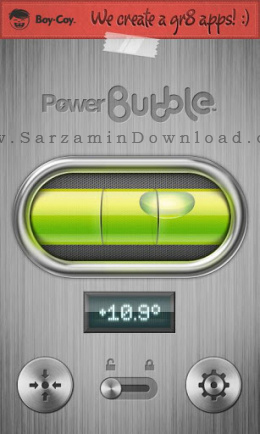 نرم افزار ژیروسکوپ (برای اندروید) - Power Bubble 1.0.8 Android