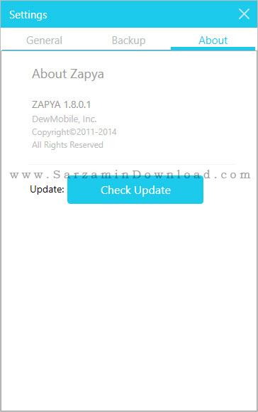 نرم افزار زاپیا (برای کامپیوتر) - Zapya 1.8 PC