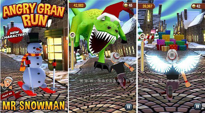 بازی مادربزرگ عصبانی (برای اندروید) - Angry Gran Run 1.34 Android