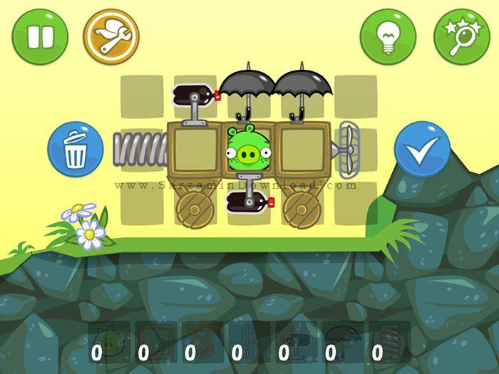 بازی خوک های بد (برای اندروید) - Bad Piggies HD 1.9.1 Android