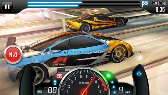 بازی مسابقات سرعت (برای اندروید) - CSR Racing 3.4 Android