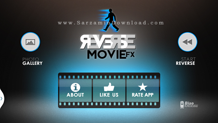 نرم افزار معکوس کردن حرکت فیلم ها (برای اندروید) - Reverse Movie FX PRO 1.3.7 Android