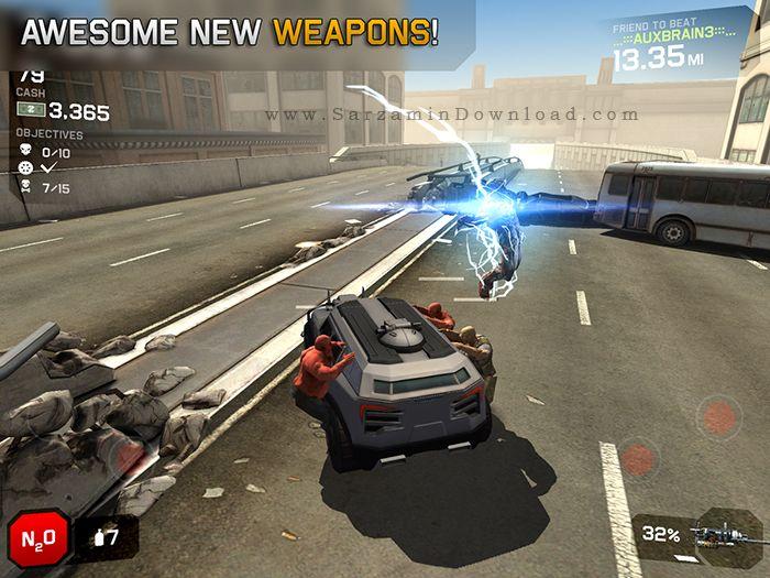 بازی اتوبان زامبی ها (برای اندروید) - Zombie Highway 2 v.1.4.3 Android