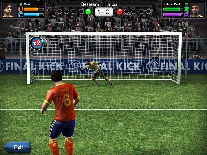 بازی ضربه ایستگاهی و پنالتی (برای اندروید) - Final Kick 3.1.17 Android