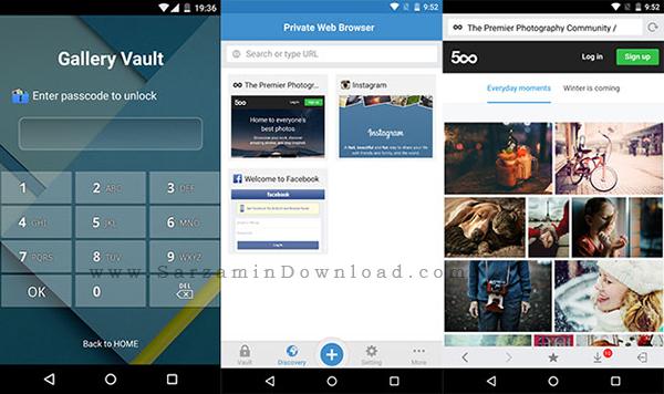 نرم افزار قفل گذاری روی گالری (برای اندروید) - Gallery Vault 2.8 Android