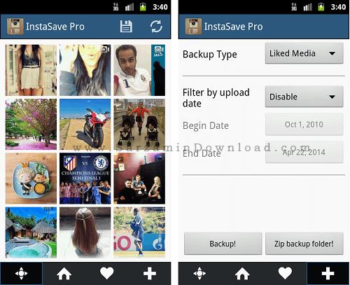 نرم افزار دانلود عکس از اینستاگرام (برای اندروید) - InstaSave Pro 2.7.1 Android