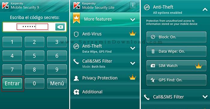 آنتی ویروس کسپراسکای (برای اندروید) - Kaspersky Mobile Security 11.10.4 Android
