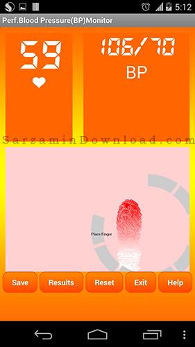 نرم افزار فشار خون (برای اندروید) - Perf Blood Pressure Monitor 1.0 Android