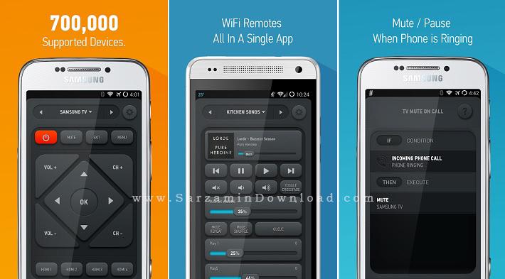 نرم افزار کنترل تلویزیون (برای اندروید) - Smart IR Remote 3.9.2 Android