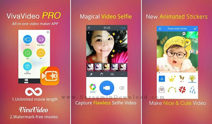 نرم افزار ویرایش فیلم (برای اندروید) - VivaVideo Pro 4.5.8 Android