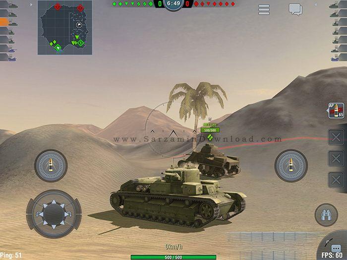 بازی جنگ تانک ها (برای اندروید) - World of Tanks Blitz 2.8 Android
