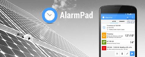 نرم افزار هشدار (برای اندروید) - AlarmPad 1.9 Android