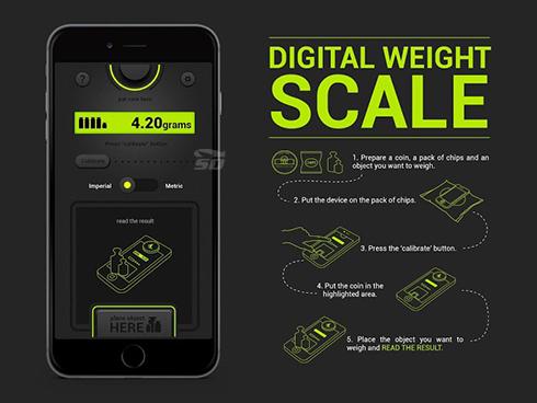 نرم افزار ترازو (برای اندروید) - Digital Weight Scale 1.0 Android