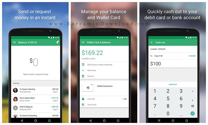 نرم افزار کیف پول (برای اندروید) - Google Wallet 14.0 Android