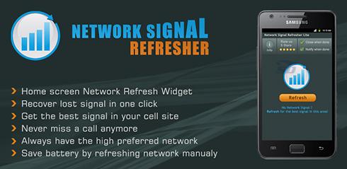 نرم افزار افزایش قدرت وای فای (برای اندروید) - Network Signal Refresher Pro 4.2 Android