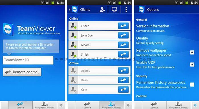 نرم افزار تیم ویور (برای اندروید) - TeamViewer Pro 10.0.29 Android