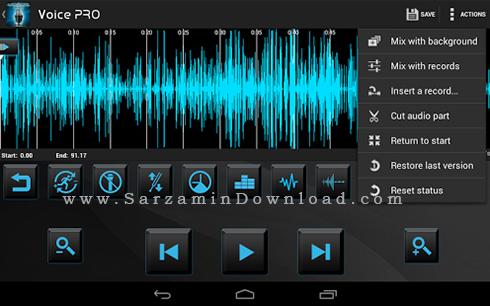 نرم افزار مدیریت صدا (برای اندروید) - Voice PRO 3.3.11 Android