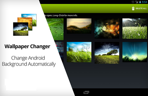 نرم افزار تغییر خودکار تصویر زمینه (برای اندروید) - Wallpaper Changer 4.3.6 Android