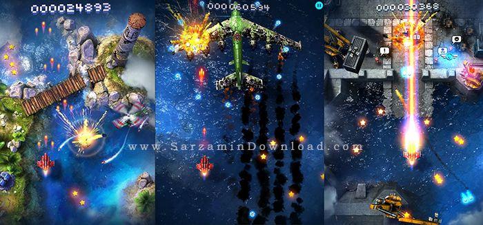 بازی هواپیما جنگی (برای اندروید) - Sky Force 2014 v.1.38 Android